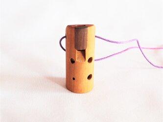 木のオカリナ アメリカンチェリー ソプラニーノ管の画像
