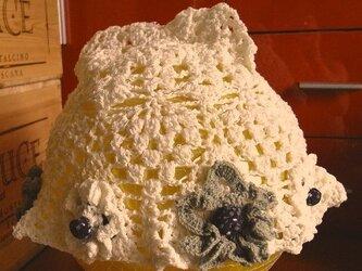 moga 乙女帽子「アミガサタケ」ミルク色の画像