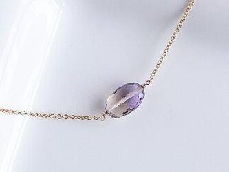 天然石アメトリンのネックレスの画像
