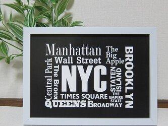 7p3■A3サイズ ポスター■ニューヨーク壁紙■タイポグラフィの画像