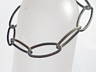 【 イタリア製 oval chain ブレスレット】女性用の画像