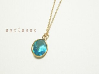 カリブブルーのネックレスの画像