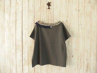 コラージュTシャツ/チャコール Dの画像