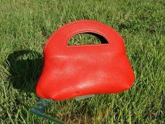 【受注生産品】トマト色のちびトートバッグの画像