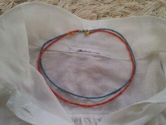 アフガニスタンビーズのネックレスの画像