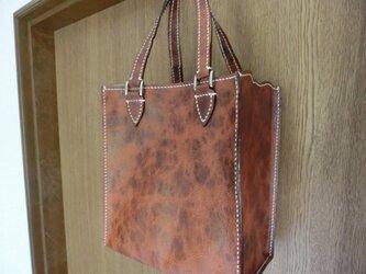 ミニ手提げバッグ(手縫い)の画像