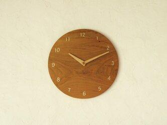 掛け時計 丸 桜材の画像