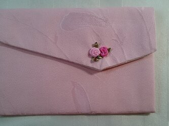 ♪着物生地で作ったふくさ12ピンクの画像