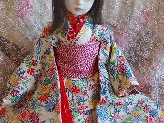 型染めの着物の画像