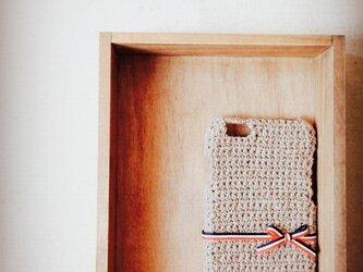 リボンのiPhone5/6ケース 【トリコロール】の画像