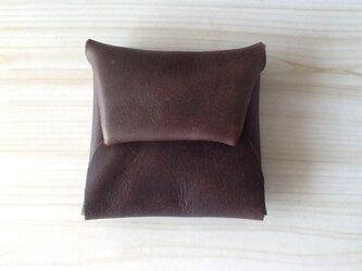 USED風 レザーコインケース チョコレート色の画像