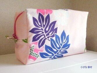 hawaiian楽器柄 ポーチ(ピンク)の画像