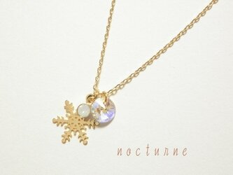 雪の結晶のネックレス~Gold~の画像