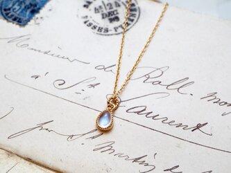 ロイヤルブルームーンストーンのネックレスの画像