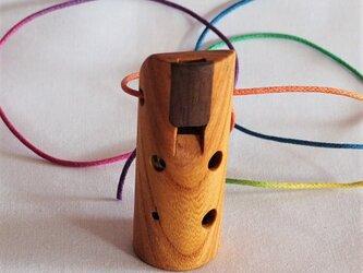 木のオカリナ ケヤキ ソプラニーノ管F管の画像
