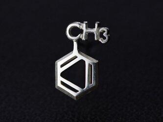 トルエン 化学式ピアス®片耳の画像