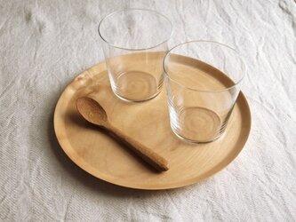 丸トレイ(お盆) 小  とち材の画像