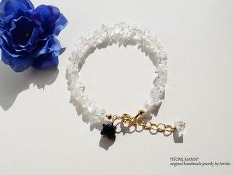 ♡Rock crystal♡Shine bracelet♡の画像