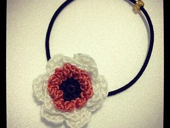 お花のモチーフゴム~その1の画像