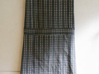 綿 生成 変わり格子縞 ノースリーブワンピース Mサイズの画像