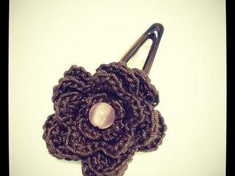 お花のモチーフ・パッチンピン~その1の画像