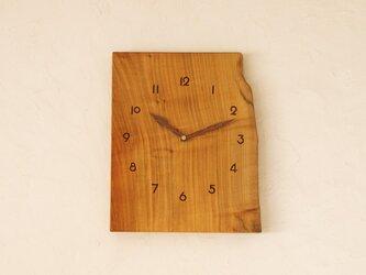 掛け時計 桜材①の画像