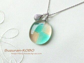 淡色ガラスの積木・ネックレス(フュージング)の画像