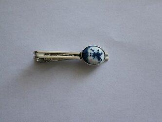 藍染め・羅仙絞りのネクタイピンの画像