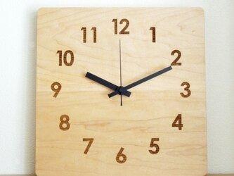 clock54 | world largeBK(メープル)の画像