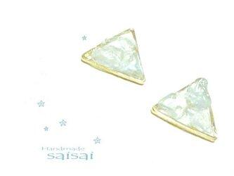 天使の石 triangle ピアスの画像