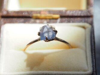 色の変わるニューメキシコ州産蛍石のリング(フローライト)の画像