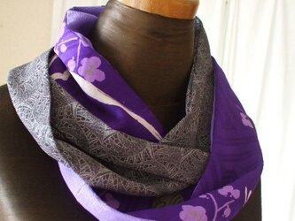 古布で紫ワールドなスヌードの画像