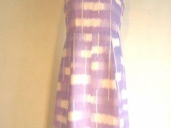 着物 麻ワンピースの画像