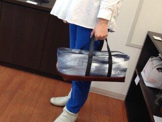 Tool box bag(酒バッグ)帆布×レザーの画像