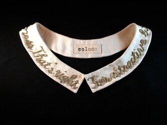 Longmessage beads collarの画像
