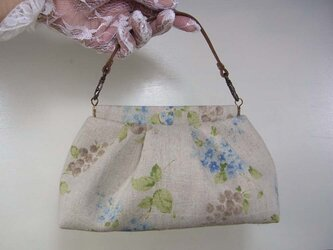 グラニーバネポーチ・ミニバッグ「Lilas」の画像