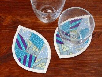 はっぱのコースター(2枚組) ~氷室~の画像