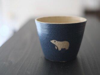 シロクマフリーカップ(紺)の画像