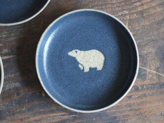 シロクマ柄の小皿A(紺)の画像