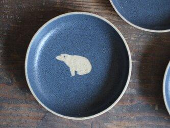 シロクマ柄の小皿C(紺)の画像