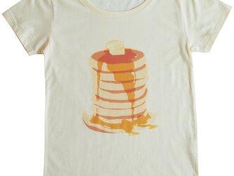 パンケーキハットのTシャツ(シャーベットイエロー)の画像