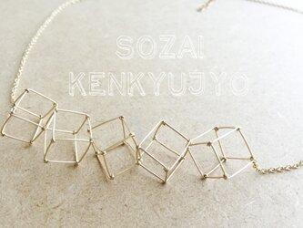 (K14GF)5キューブネックレスの画像