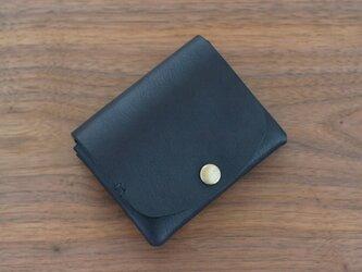 イタリア製牛革の二つ折り財布 / ネイビー※受注製作の画像