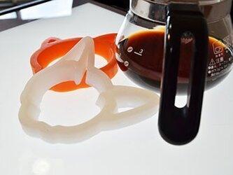 耐熱シリコン「すべらないポットマット/ねこ」の画像