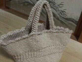 手編み*麻ひもバッグの画像