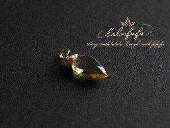 グランシャポー~蜜の輝きハニークォーツのチャームの画像