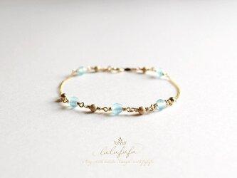 星のささやき☆流氷の青~シーブルーカルセドニーのブレスレットの画像