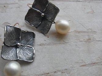 紫陽花 pierced earringsの画像