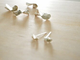 Twisted Silver Earring Lの画像