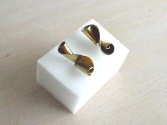 Twisted Brass Earring Lの画像